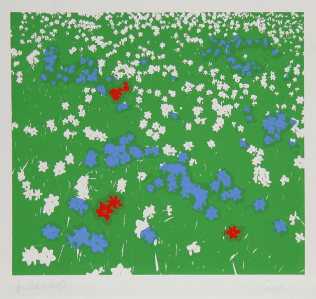 Nadine Prado, Floral Field, Serigraph