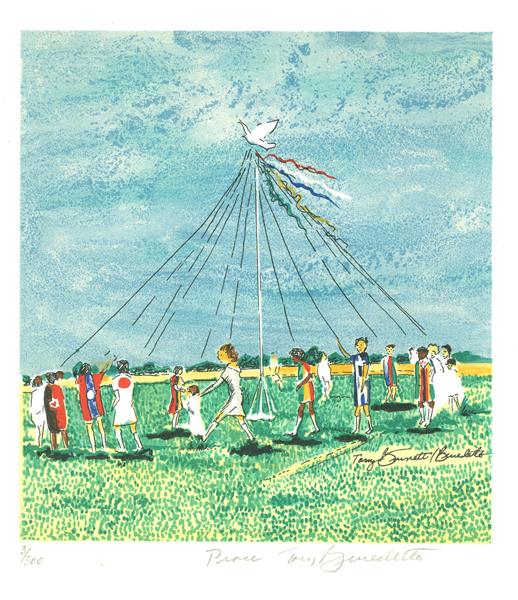 Tony Bennett, Peace - Flag Series, Lithograph