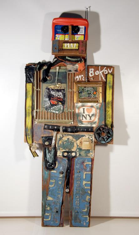Konstantin Bokov, Robot, Found Art Wall Sculpture