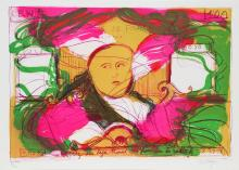 Jean Messagier, 100 Francs in the Radishes, Lithograph on Arches