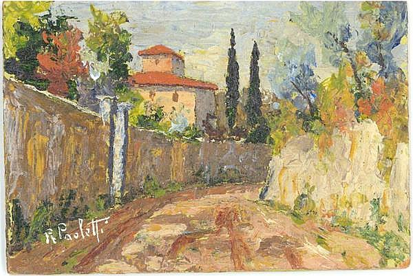 Renzo Paoletti, Italian Landscape - II, Oil Painting