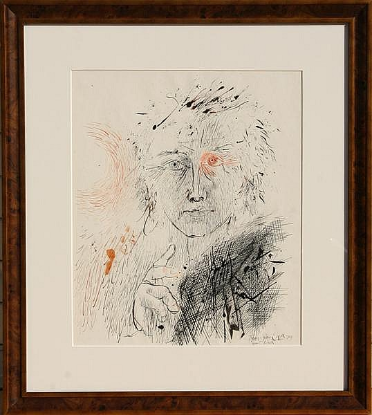 Josep Grau-Garriga, Great Neck, Ink Drawing