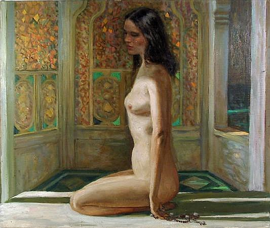 Marshall Goodman, Nude in Interior, Oil Painting