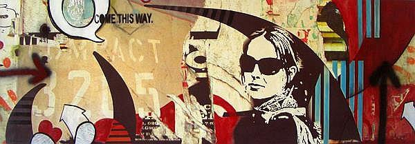Sara Abbott, Graffiti Wall I, Mixed Media