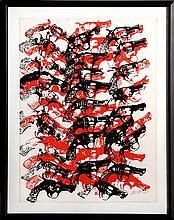 Arman, Bloody Guns, Serigraph
