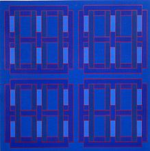 Peter Stroud, Four Squares within Four Squares, Serigraph