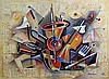 Israel Rubinstein, 1234, Mixed Media on Canvas, Israel Rubinstein, Click for value