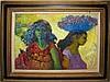Louis Anthony Burnett, Two Market Women, Oil Painting, Louis Anthony Burnett, Click for value