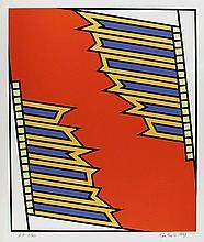 Nicholas Krushenick, Silver Liner, Serigraph