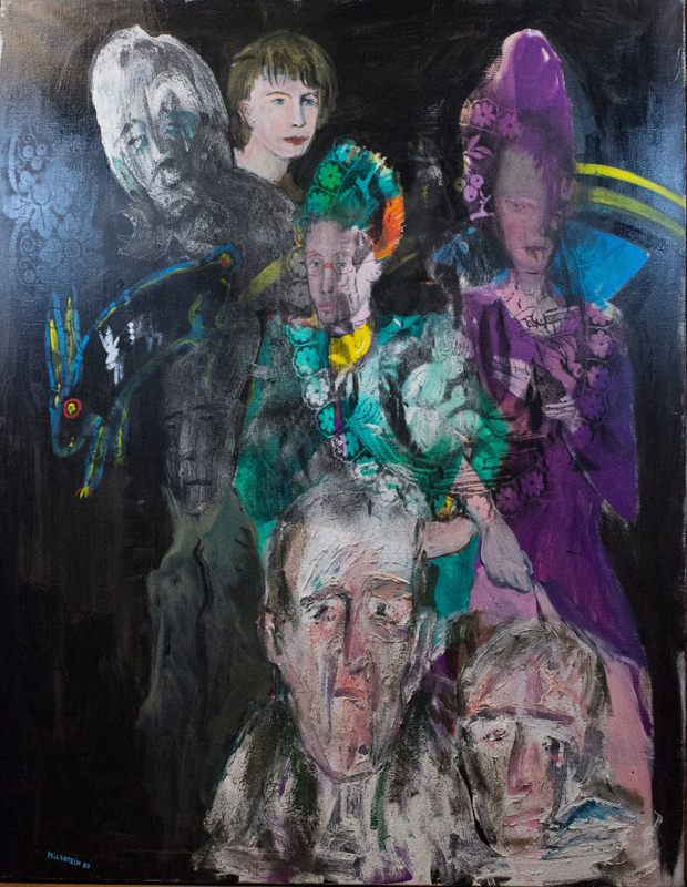 Zwy Milshtein, Barbara et Les Punks, Oil Painting