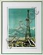 Tom Blackwell, Oil Well, Serigraph, Tom Blackwell, Click for value