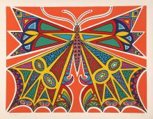 Edouard Dermit, Butterfly, Screenprint on Arches