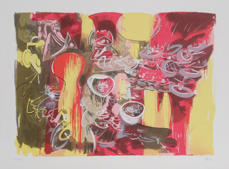Roberto Matta, L'eau est Mana, Lithograph on Arches Paper