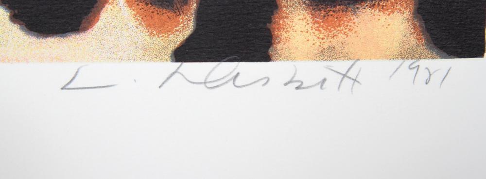 Lowell Blair Nesbitt, Spotted Leopard and Purple Iris, Screenprint