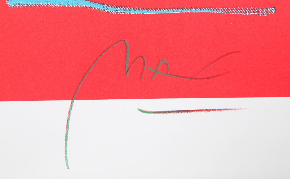 Peter Max, Blue Vase, Lithograph