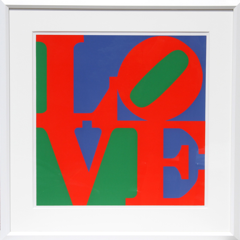 Robert Indiana, Philadelphia Love, Screenprint