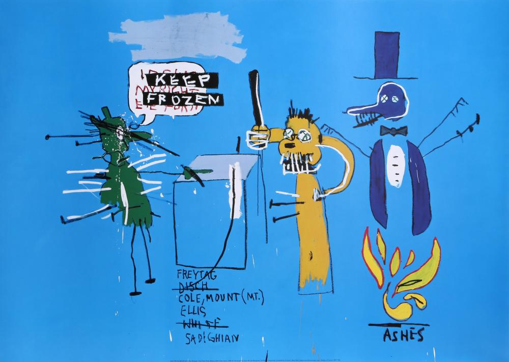 Jean-Michel Basquiat, The Dingoes That Park Their Brains with Their Gum, Poster