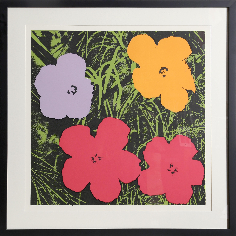 Andy Warhol, Flowers from Museu de Arte de Moderna, Sao Paulo, Screenprint