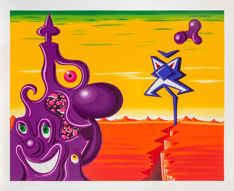 Kenny Scharf, Sajippe Kraka Joujesh, Screenprint