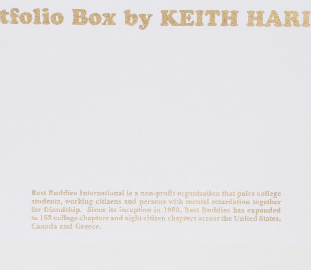 Keith Haring, Best Buddies Portfolio Coversheet, Screenprint