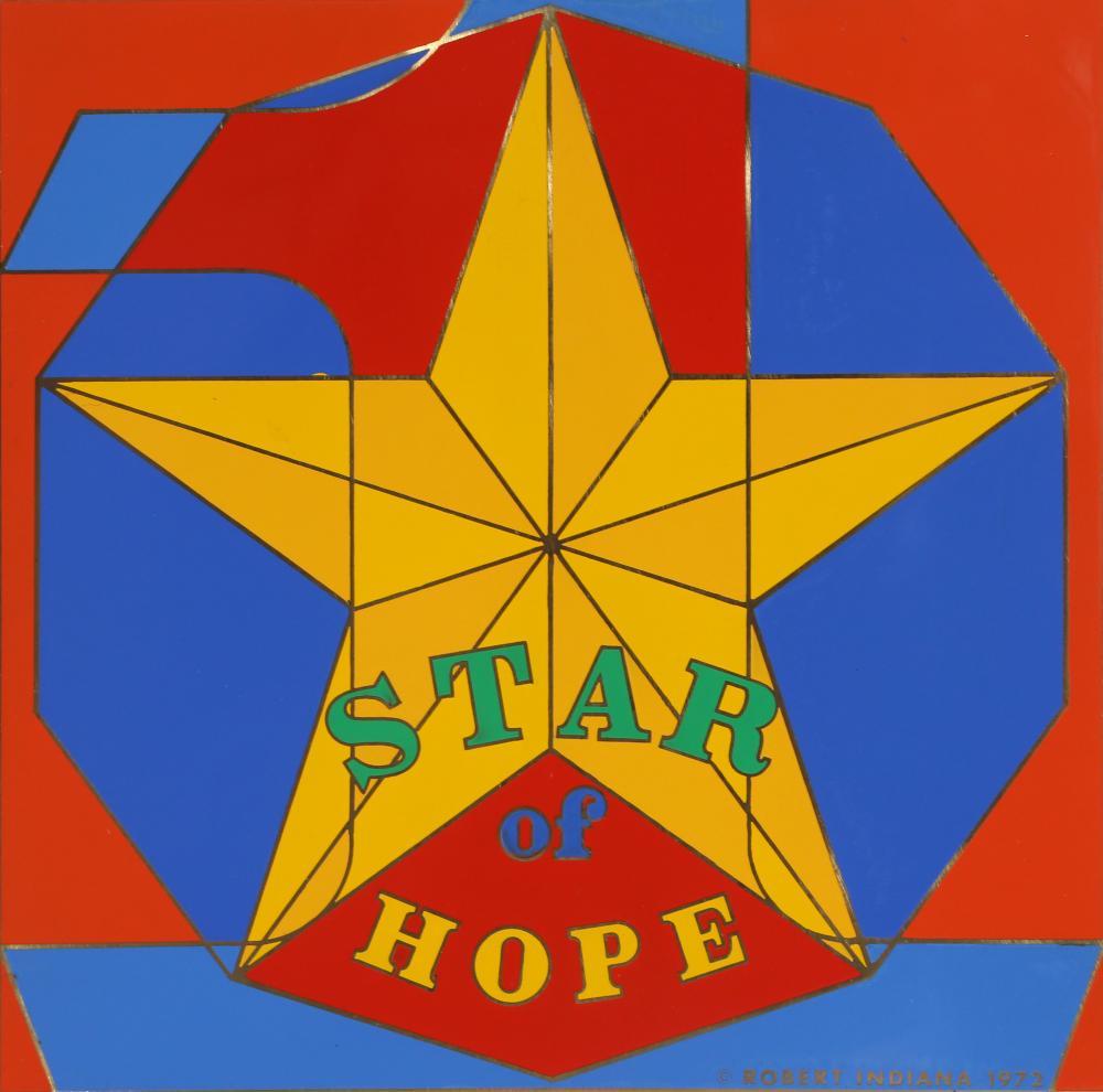 Robert Indiana, Star of Hope, Enamel on Metal