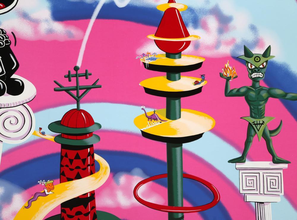 Kenny Scharf, Felix on a Pedestal, Screenprint