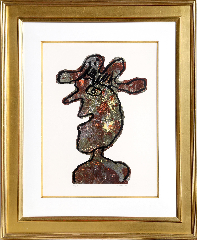 Jean Dubuffet, L'Homme au Chapeau, Lithograph