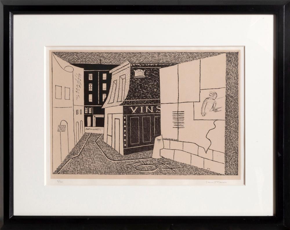 Stuart Davis, Rue des Rats, Lithograph