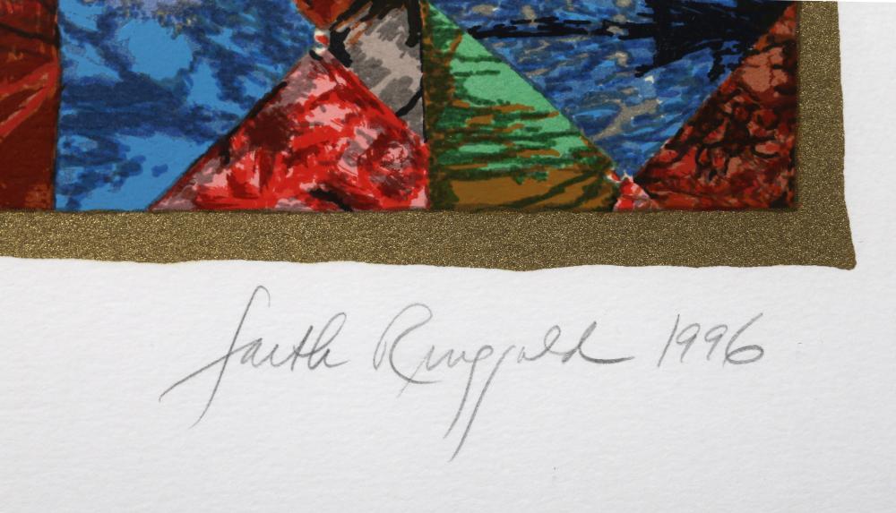Faith Ringgold, Groovin' High, Screenprint
