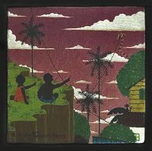 Rodolpho Tamanini Netto, Kites Over Village, Oil Painting