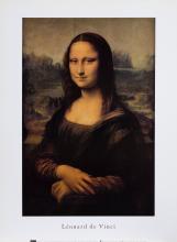 Leonardo da Vinci, Mona Lisa, Poster on foamcore