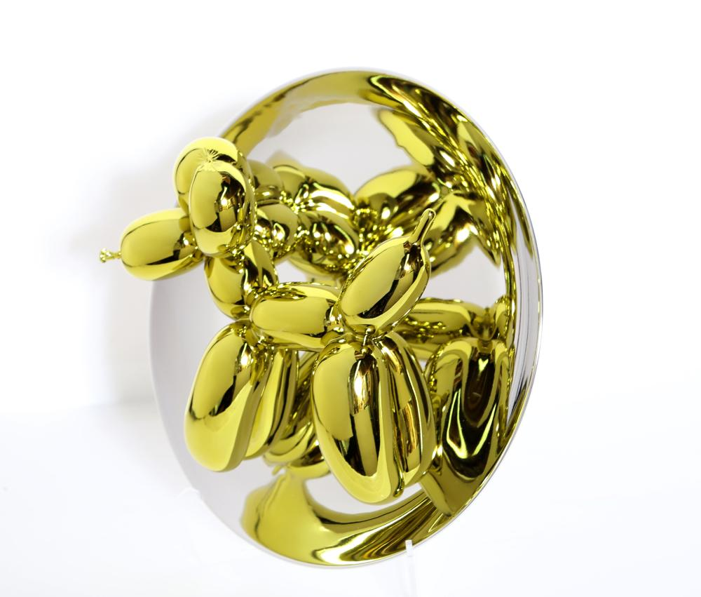 Jeff Koons, Balloon Dog (Yellow), Porcelain Sculpture with Mirror Finish