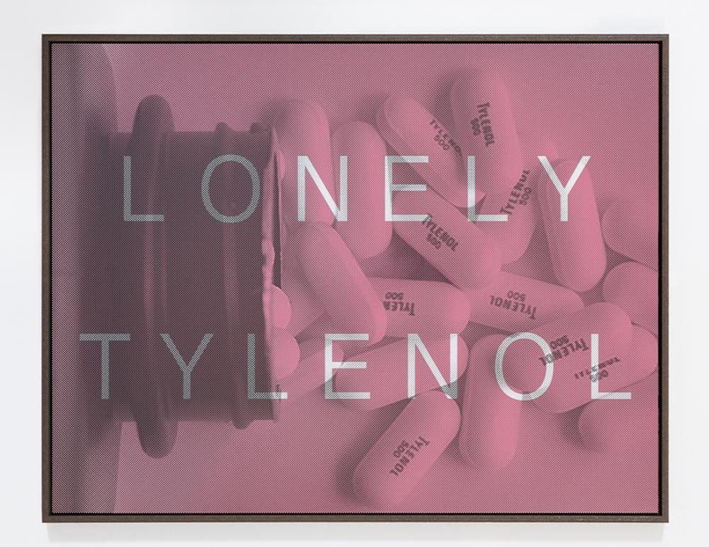 Massimo Agostinelli, Lonely Tylenol, Matte Ink on Vinyl and Acrylic Mirror