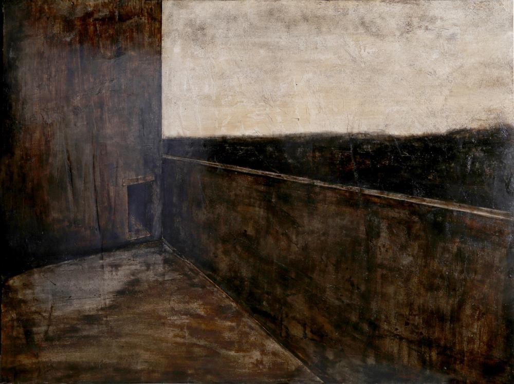 Joan Nelson, Building, Egg Tempera & Plaster Painting