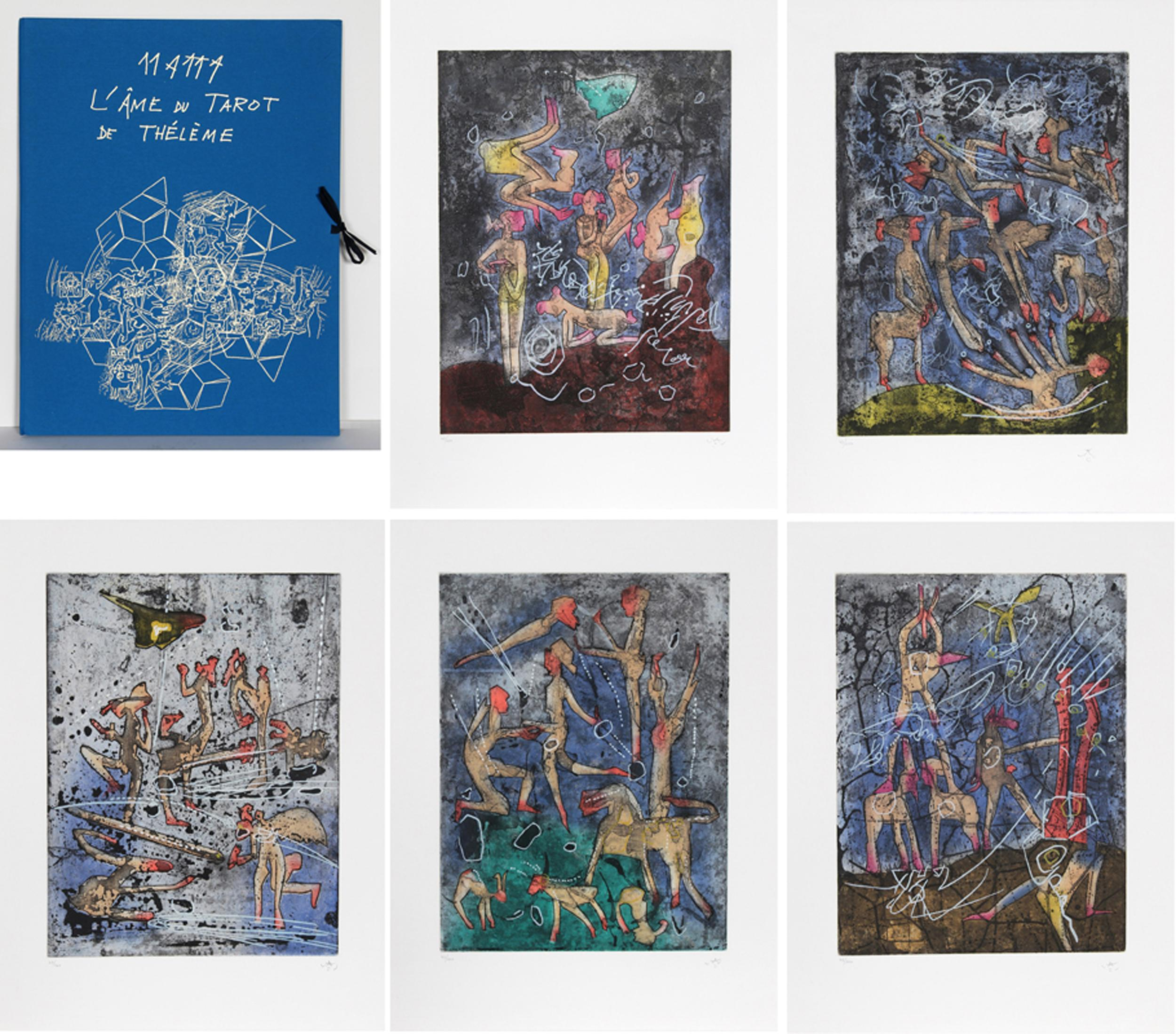 Roberto Matta, L'Ame du Tarot de Theleme, Portfolio of Five Aquatint Etchings