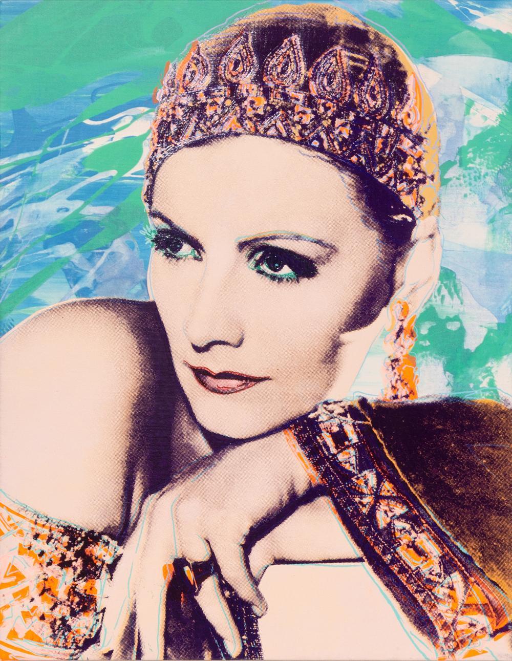 Rupert Jasen Smith, Greta Garbo No. 4, Acrylic and Silkscreen Painting