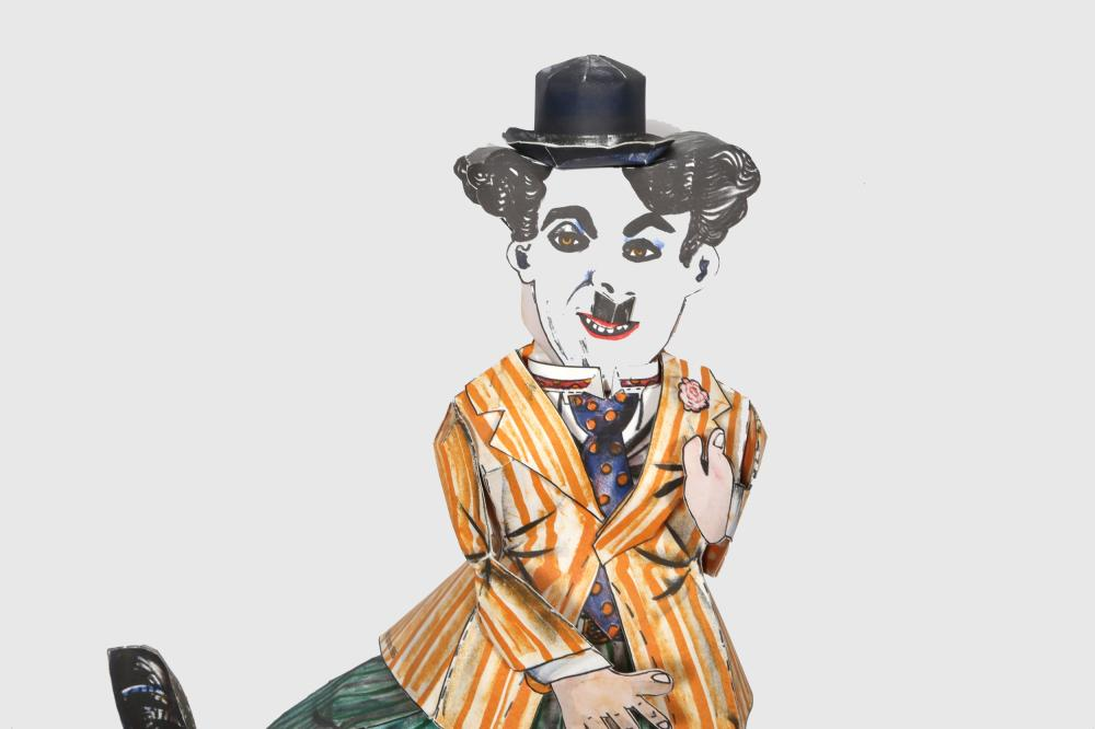 Red Grooms, Charlie Chaplin, Three-Dimensional Lithograph Construction