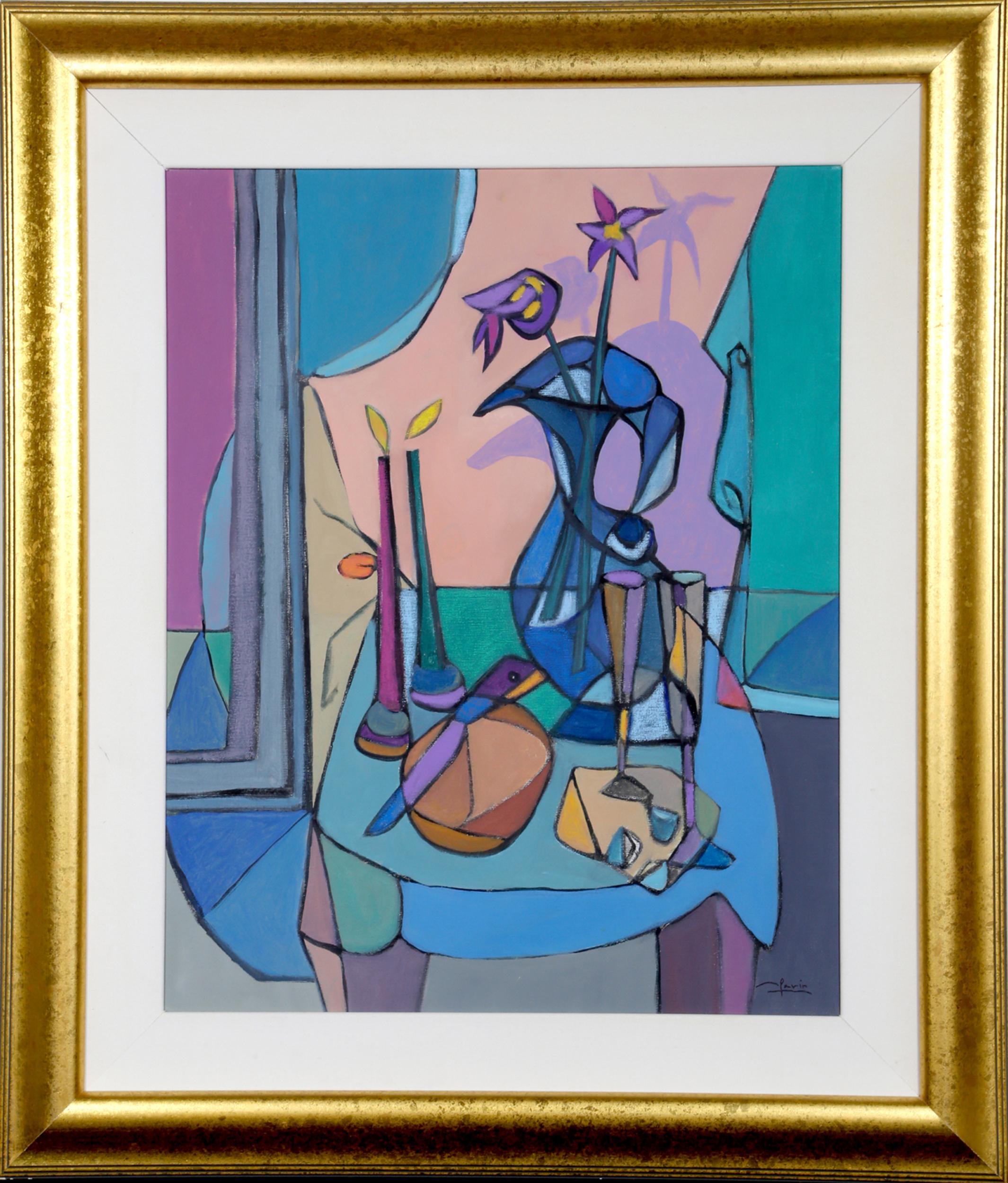 Avi Farin, Candlelight, Oil Painting