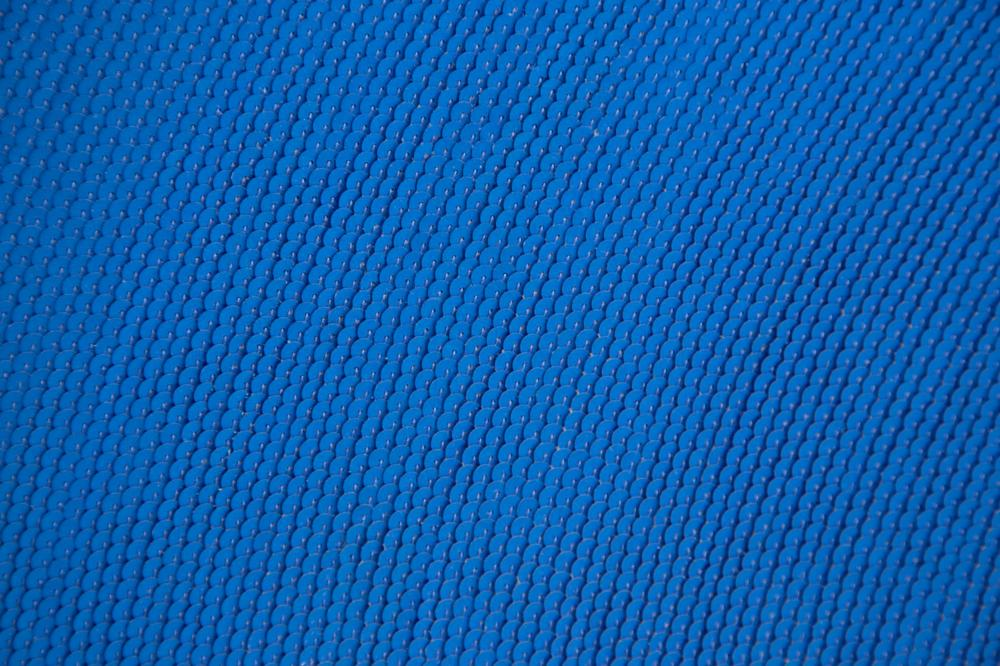 Noh Sang-Kyoon, The Whole Towards the Hole II, Blue Sequins on canvas