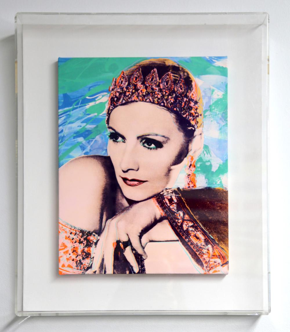 Rupert Jasen Smith, Greta Garbo No. 4, Acrylic and Silkscreen Painting