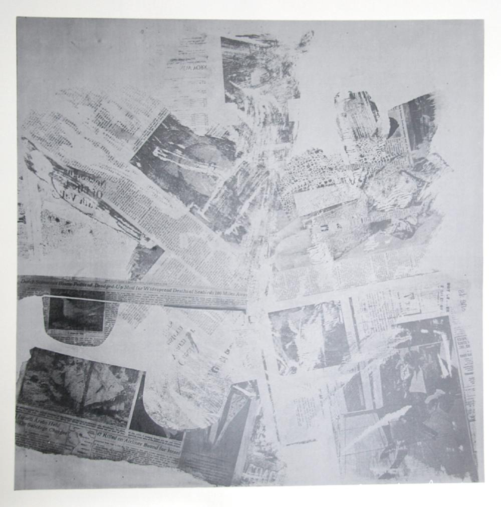 Robert Rauschenberg, Features from Currents, No. 60, Hand-Printed Silkscreen