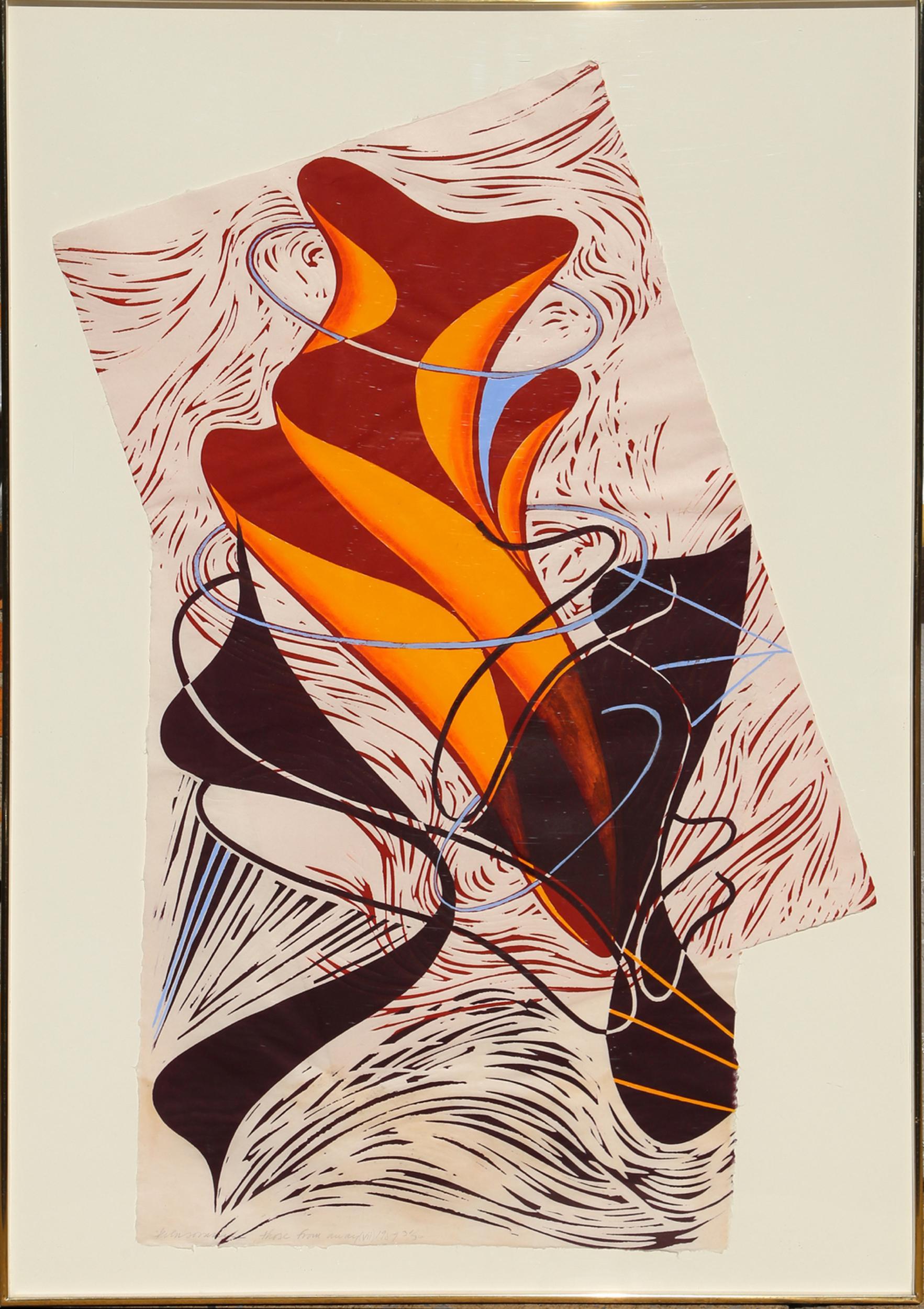 Steven Sorman, Those From Away (VII), Linocut
