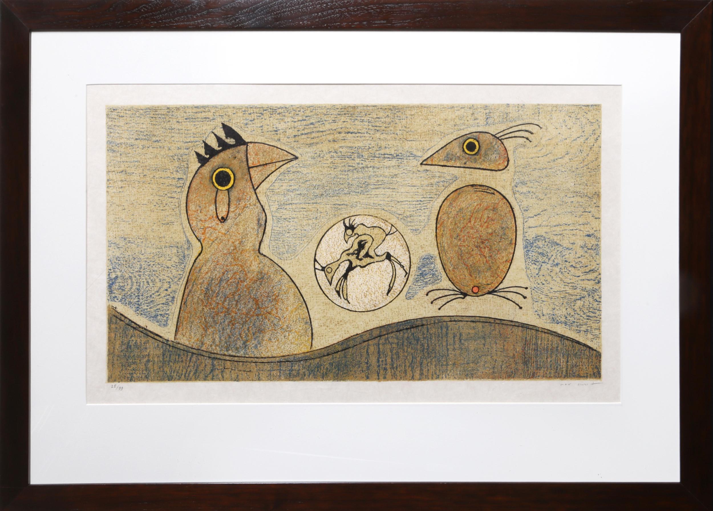 Max Ernst, Oiseaux Souterrains, Lithograph