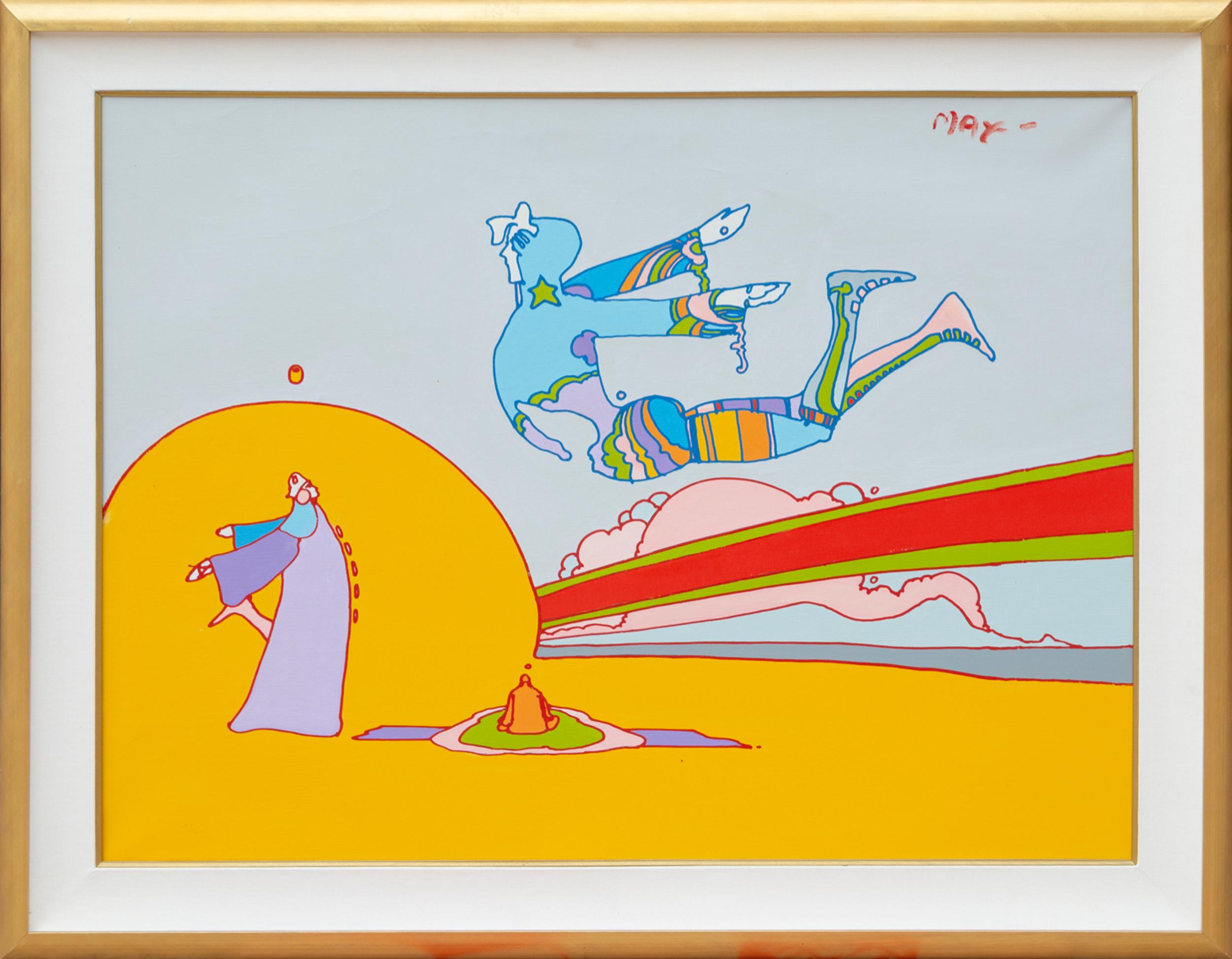 Peter Max, His Birthday, Acrylic Painting