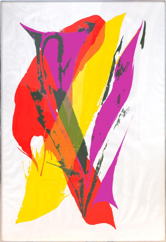 Paul Jenkins, Large Abstract Silkscreen