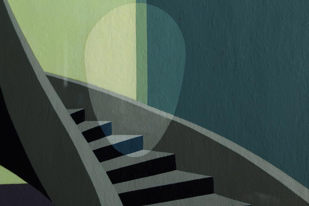 Clarence Holbrook Carter, The Staircase, Acrylic Painting