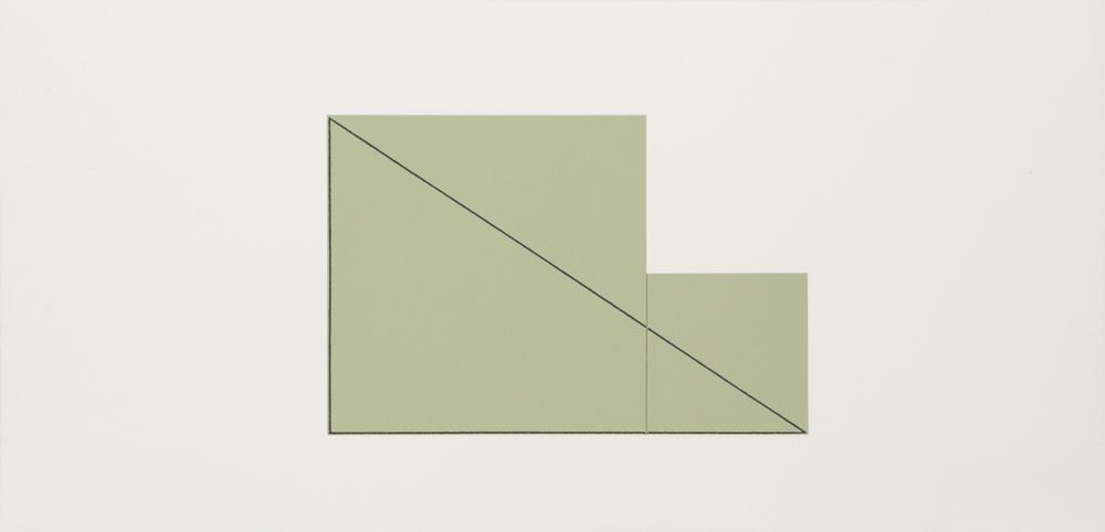 Robert Mangold, Untitled (Green), Screenprint