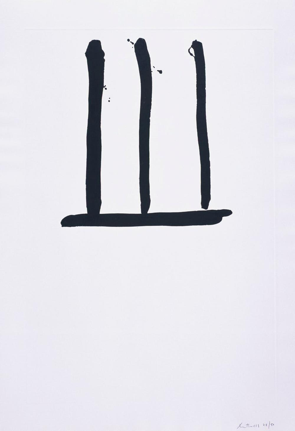 Robert Motherwell, Untitled, Lift-Ground Aquatint Etching