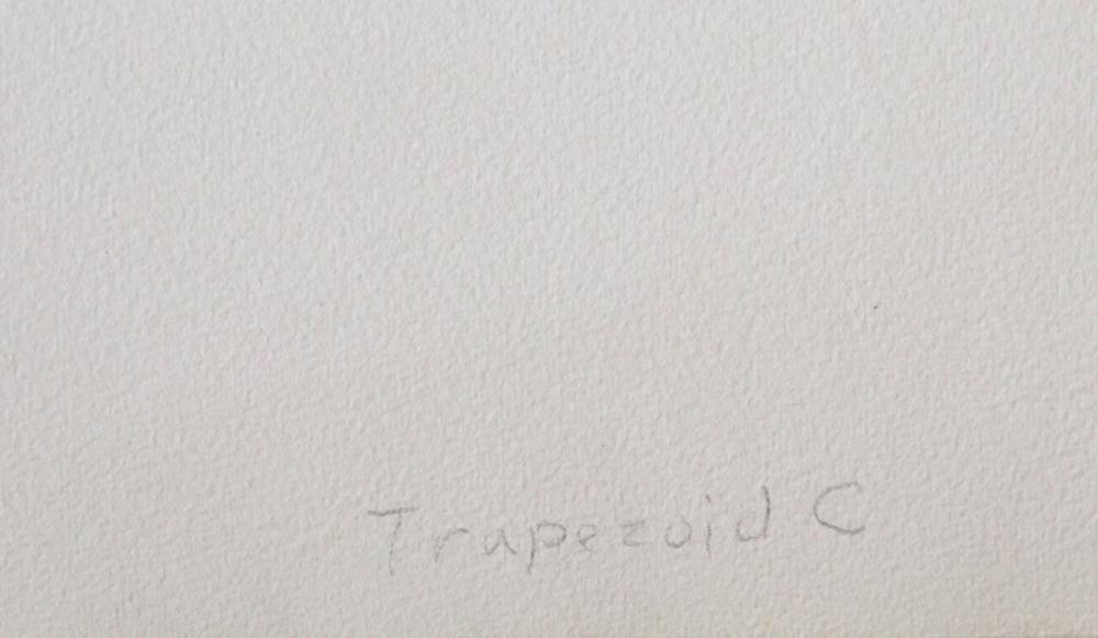 Ronald Davis, Trapezoid C, Silkscreen