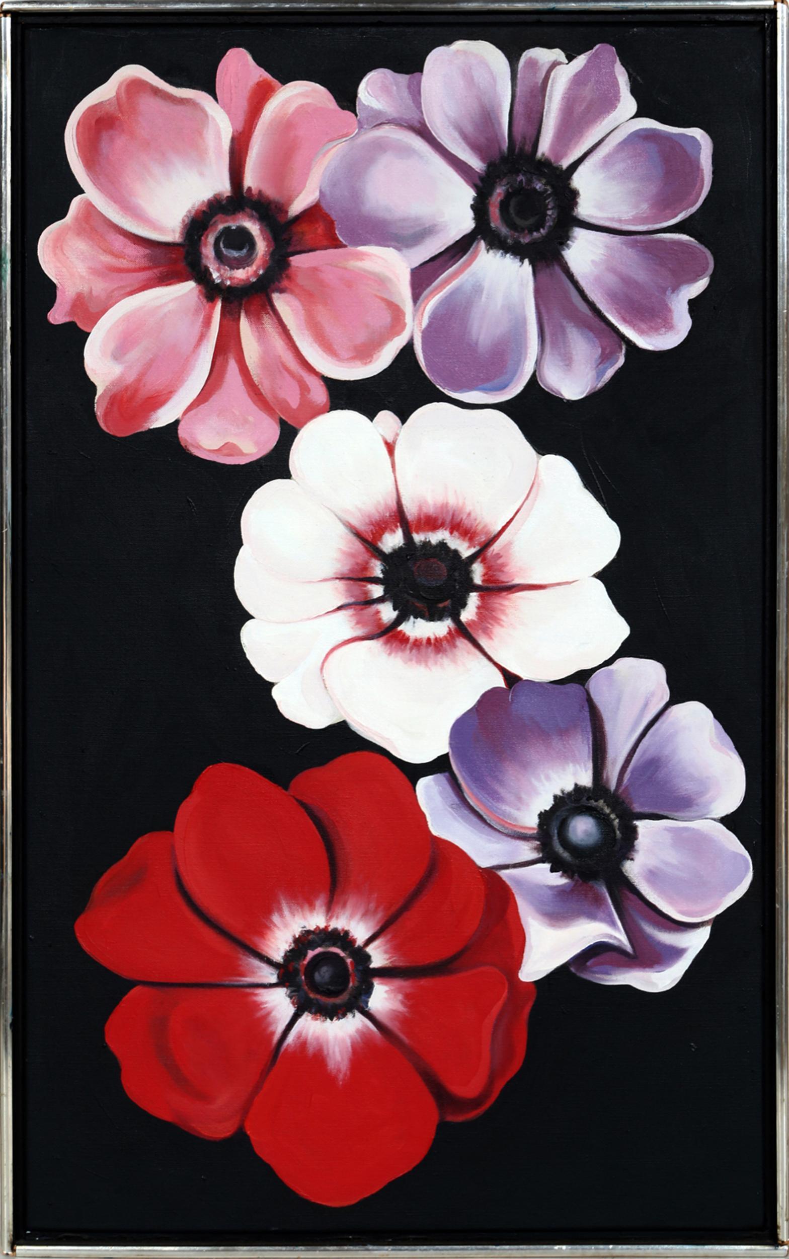 Lowell Blair Nesbitt, Five Anemones, Oil Painting